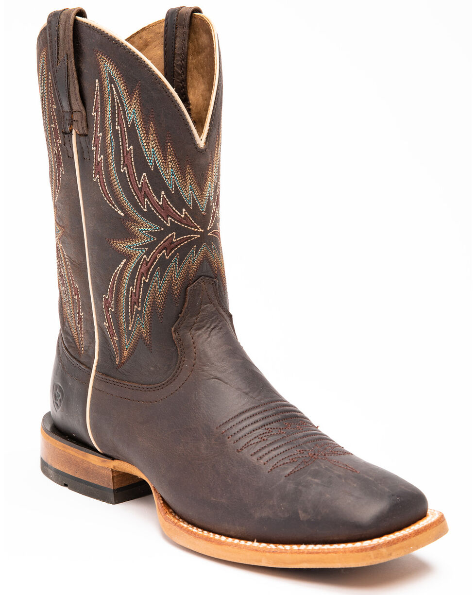 Ariat Men's Brown Arena Rebound Boots - Square Toe , Brown, hi-res