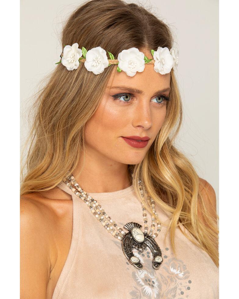 Shyanne womens small white flower wreath headband sheplers shyanne womens small white flower wreath headband white hi res mightylinksfo