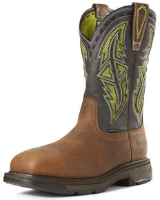 Ariat Men's Workhog XT VentTEK Western Work Boots - Carbon Toe, Brown, hi-res