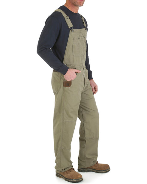 Wrangler Men's Brown Riggs Workwear Ripstop Bib Overalls , Brown, hi-res