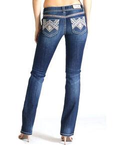 Grace In LA Women's Native Easy Boot Cut Jeans, Indigo, hi-res