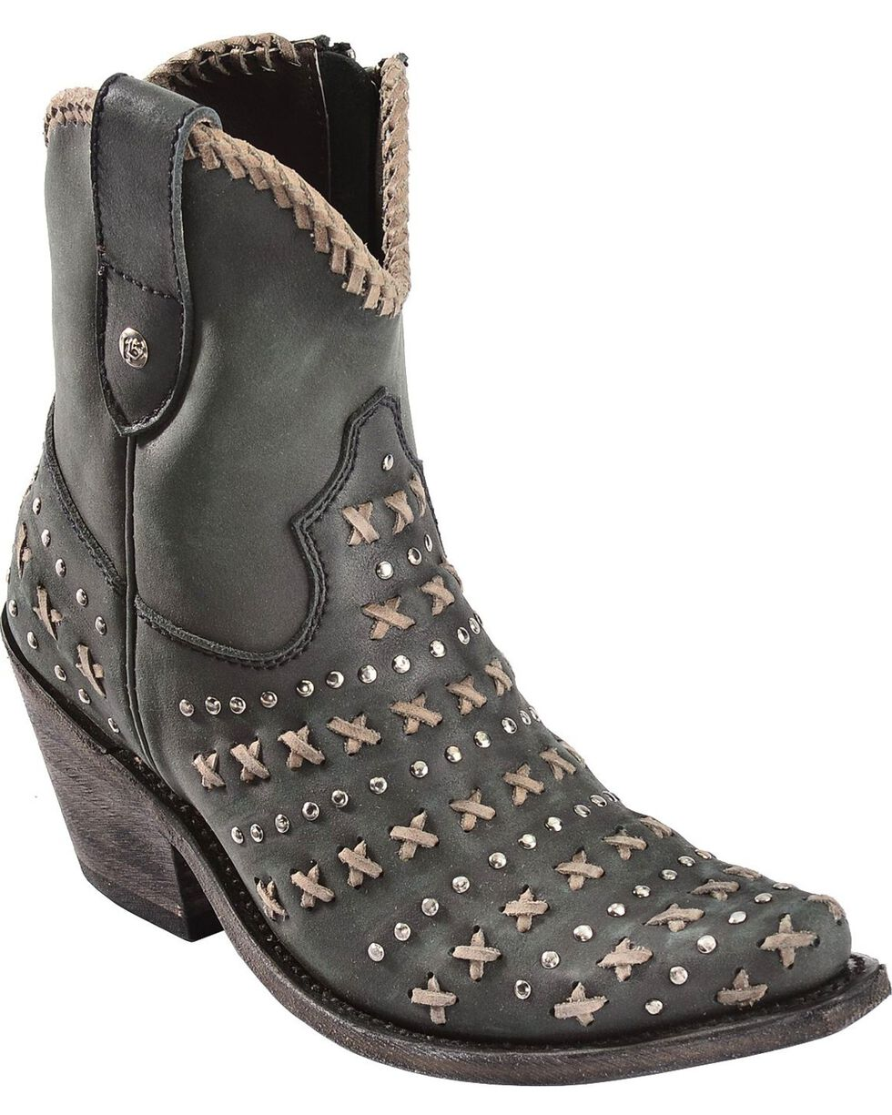 Liberty Black Vintage Negro Cowgirl Boots - Pointed Toe, Black, hi-res
