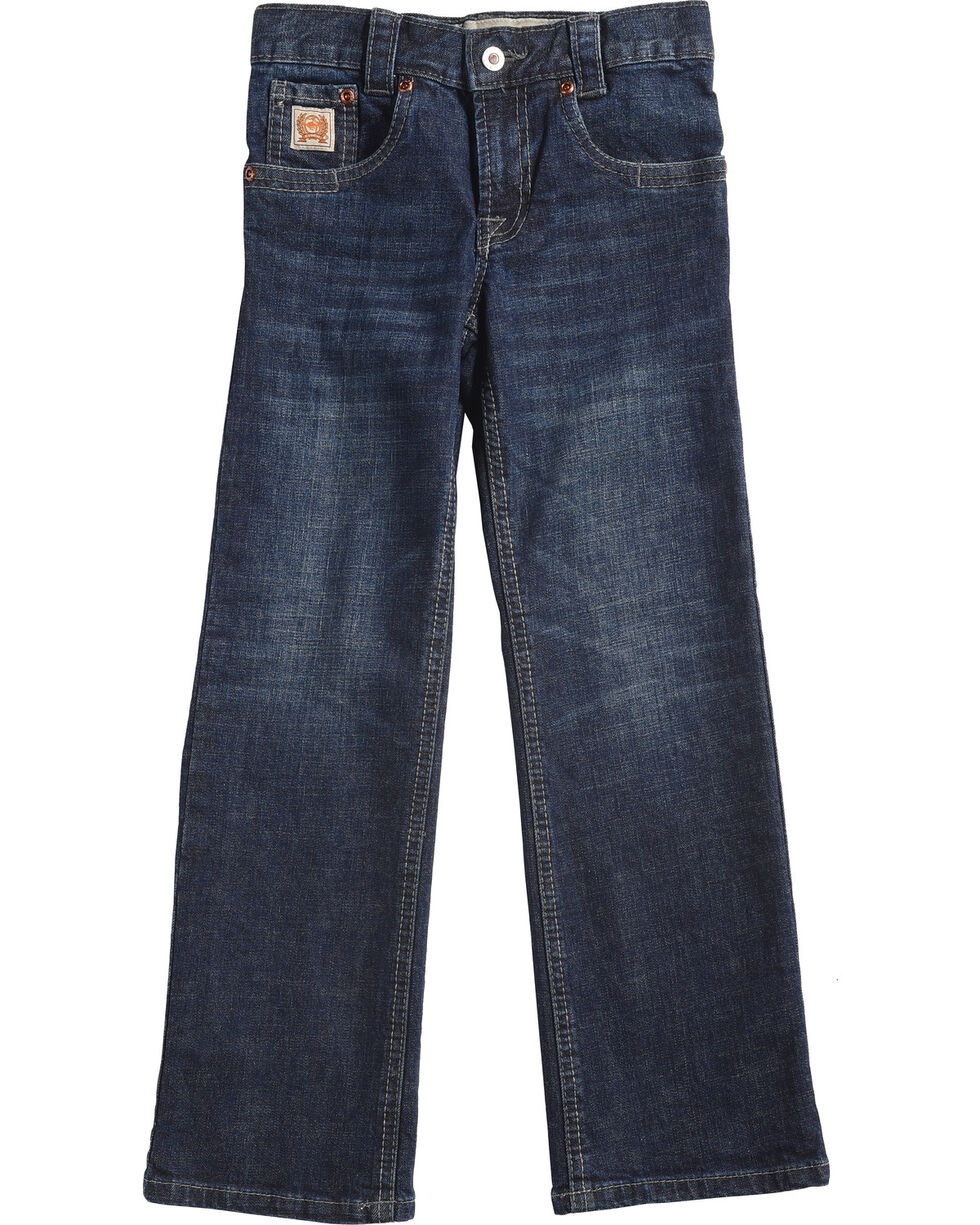 Cinch Boys' Carter Dark Wash Slim/Regular Fit Jeans (4-7) - Boot Cut, Blue, hi-res