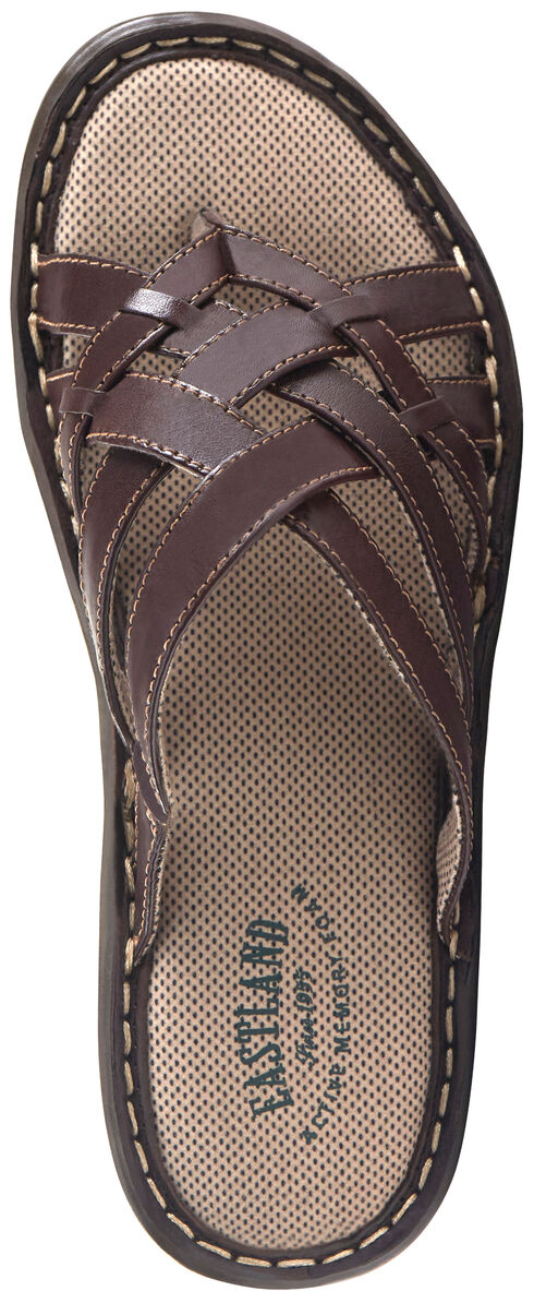 Eastland Women's Brown Lila Thong Sandals , Brown, hi-res
