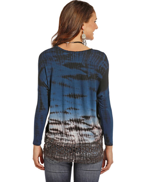 Rock & Roll Cowgirl Women's Feather Tie Dye Dolman Top, Multi, hi-res