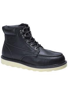 Harley Davidson Men's Bosworth Black Work Boots - Moc Toe, Black, hi-res
