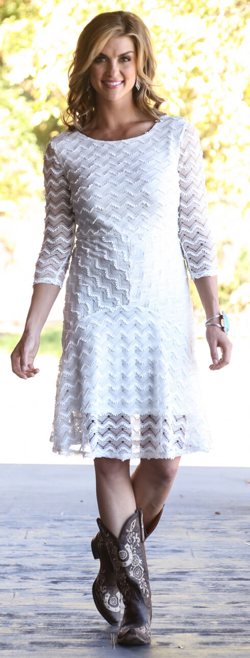 Wrangler Women's Vanilla Crochet Dress, Vanilla, hi-res