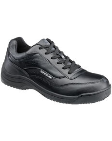 SkidBuster Men's Black Slip-Resistant Athletic Work Shoes , Black, hi-res
