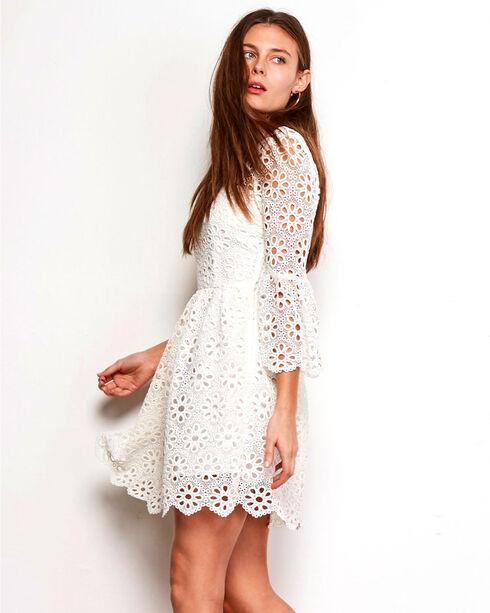 Jack Women's Eyelet Lauper Dress , Ivory, hi-res