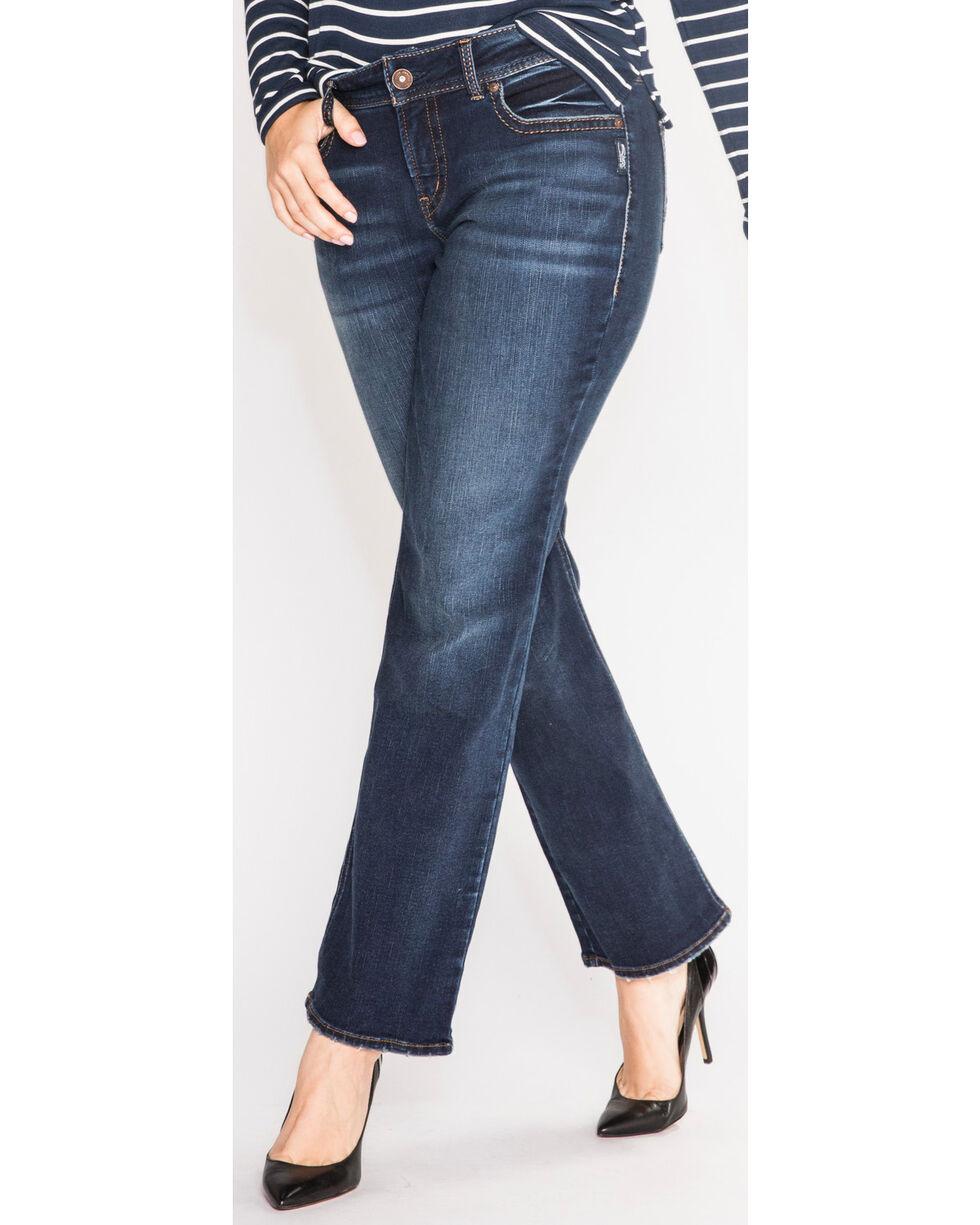 Silver Women's Suki Jeans - Boot Cut - Plus Size, Indigo, hi-res