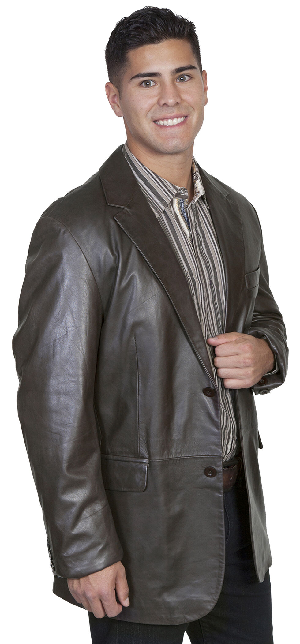 Scully Contemporary Lamb Blazer - Big and Tall, Chocolate, hi-res