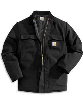 Carhartt Arctic Quilt-Lined Duck Coat, Black, hi-res