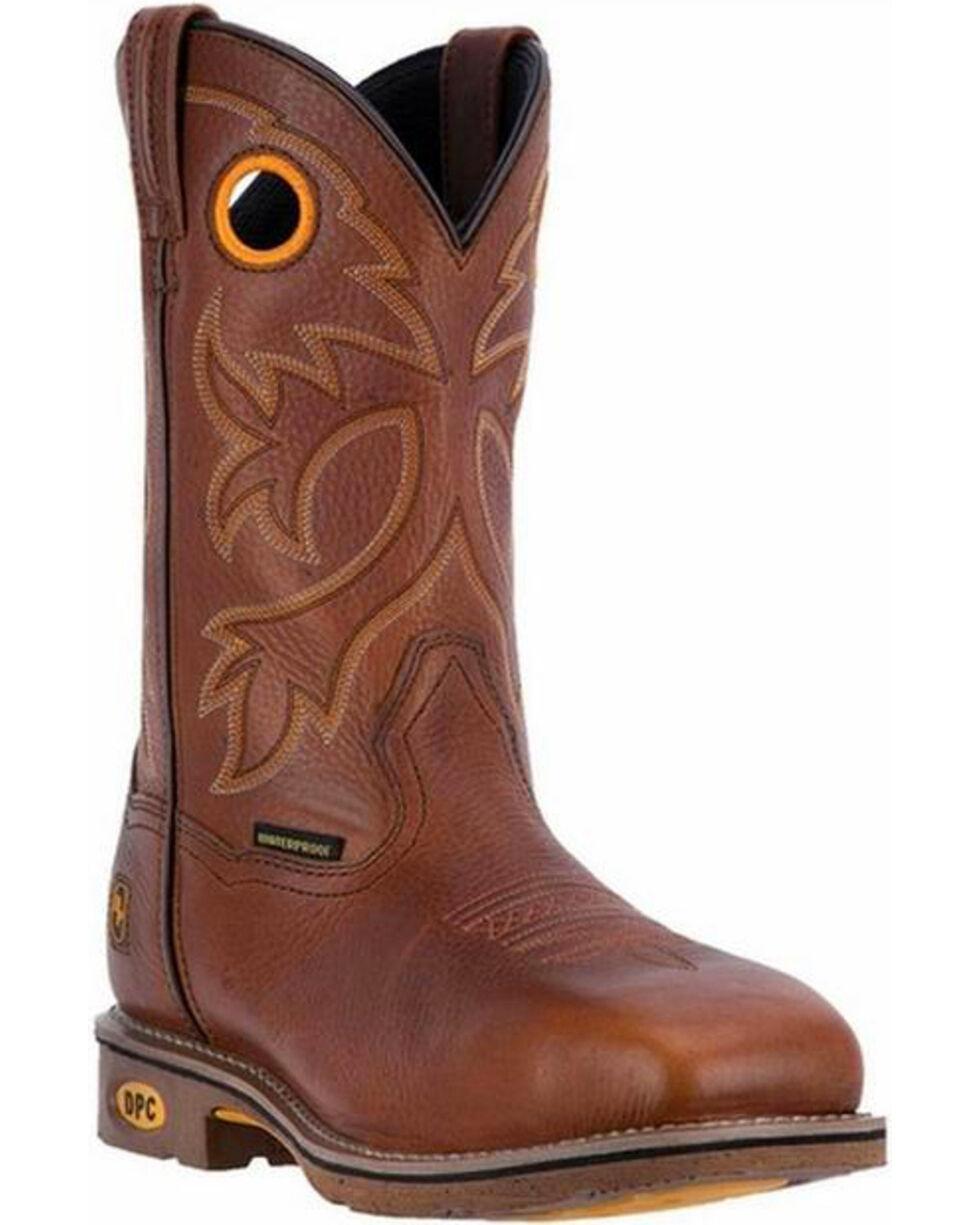 Dan Post Men's Bismark Waterproof Work Boots - Steel Toe, Lt Brown, hi-res