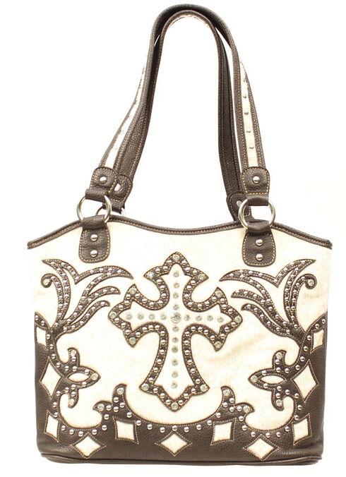 Blazin Roxx Boot Top Fancy Cross Shoulder Bag, Cream, hi-res