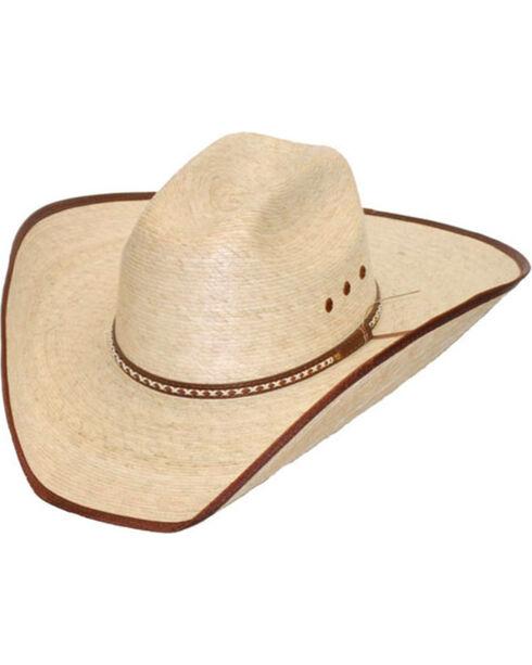 Western Express Brown Trim Palm Leaf Western Hat, Beige/khaki, hi-res
