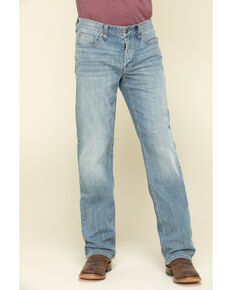 Cody James Men's Blue Shadow Light Stretch Slim Bootcut Jeans , Blue, hi-res