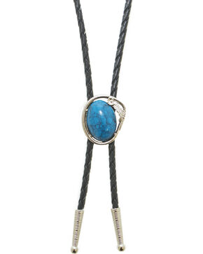 Western Express Turquoise Bolo Tie, Turquoise, hi-res