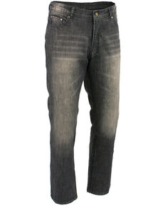 "Milwaukee Leather Men's Black 34"" Denim Jeans Reinforced With Aramid - XBig, Black, hi-res"