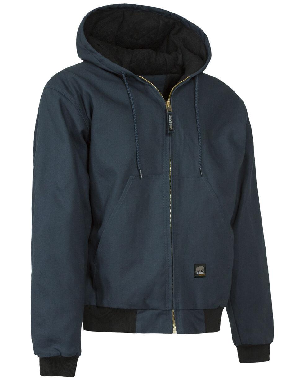 Berne Duck Original Hooded Jacket - XLT and 2XT, Navy, hi-res