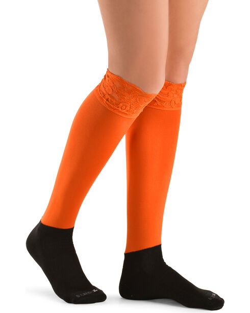 Darby's Lacie Lace Knee-High Boot Socks, , hi-res