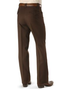 "Circle S Stretch Slacks - Big - Up to 50"" Waist, Chocolate, hi-res"