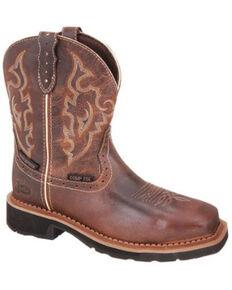 Justin Women's Jalena Western Work Boots - Composite Toe, Pecan, hi-res