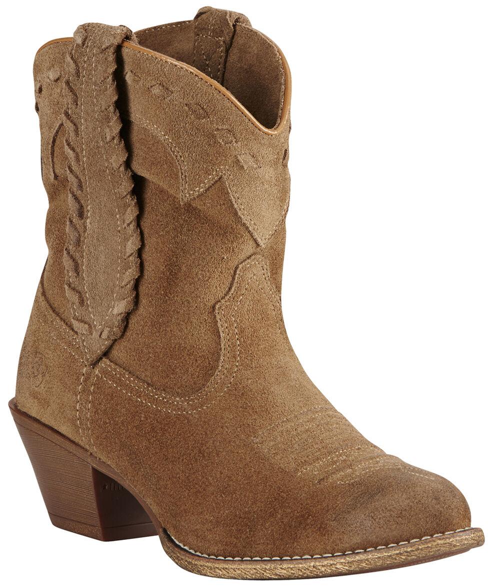 Ariat Relaxed Bark Women's Round Up Rianda Boots - Medium Toe, Tan, hi-res