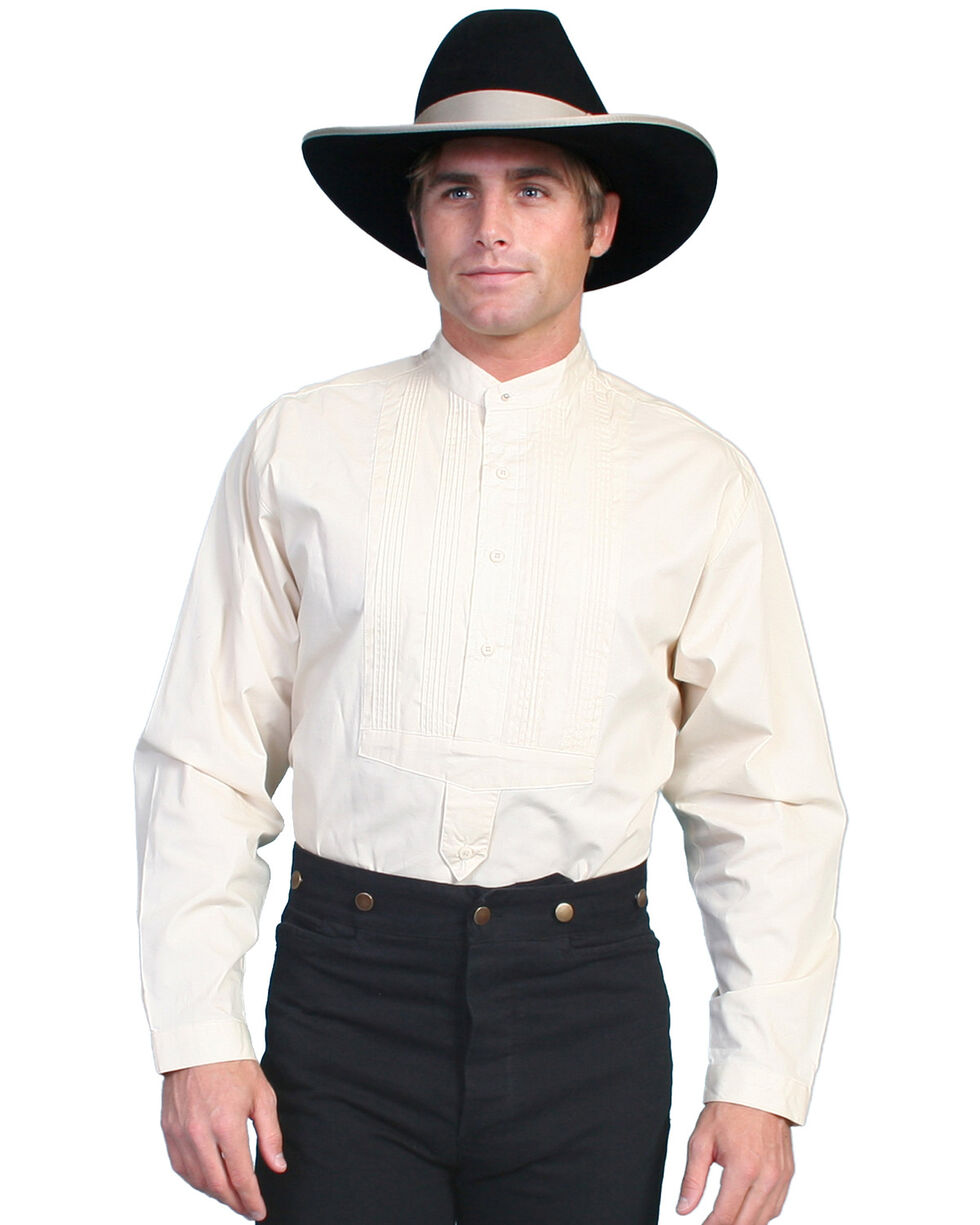 Wahmaker by Scully Gambler Shirt, Ivory, hi-res