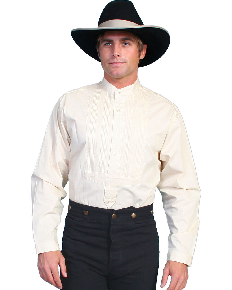 Wahmaker Old West by Scully Gambler Shirt - Big and Tall, Ivory, hi-res