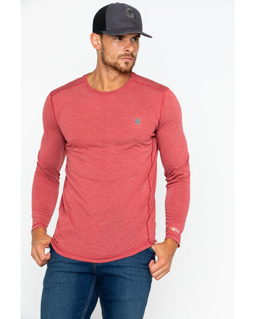 Carhartt Men's Crimson Force Extremes Long Sleeve T-Shirt, Red, hi-res