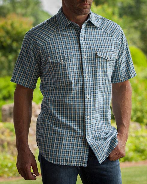 Ryan Michael Men's Arrow Dobby Short Sleeve Shirt , Teal, hi-res