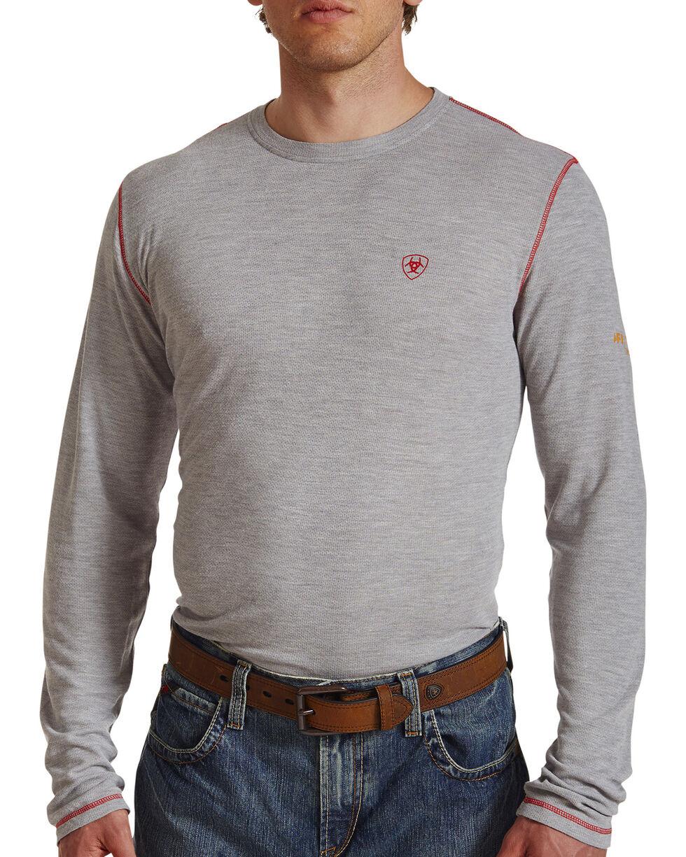 Ariat Men's Grey FR Polartec Baselayer Long Sleeve Shirt , Grey, hi-res