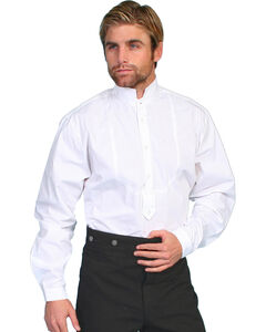 Wahmaker by Scully High Collar Long Sleeve Shirt - Big & Tall, White, hi-res