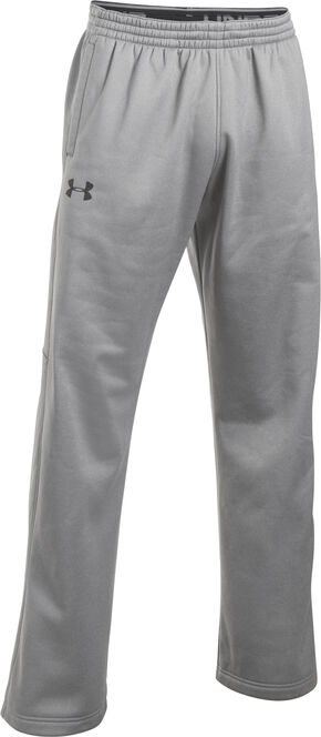Under Armour Men's Grey Storm Armour® Fleece Pants, Grey, hi-res