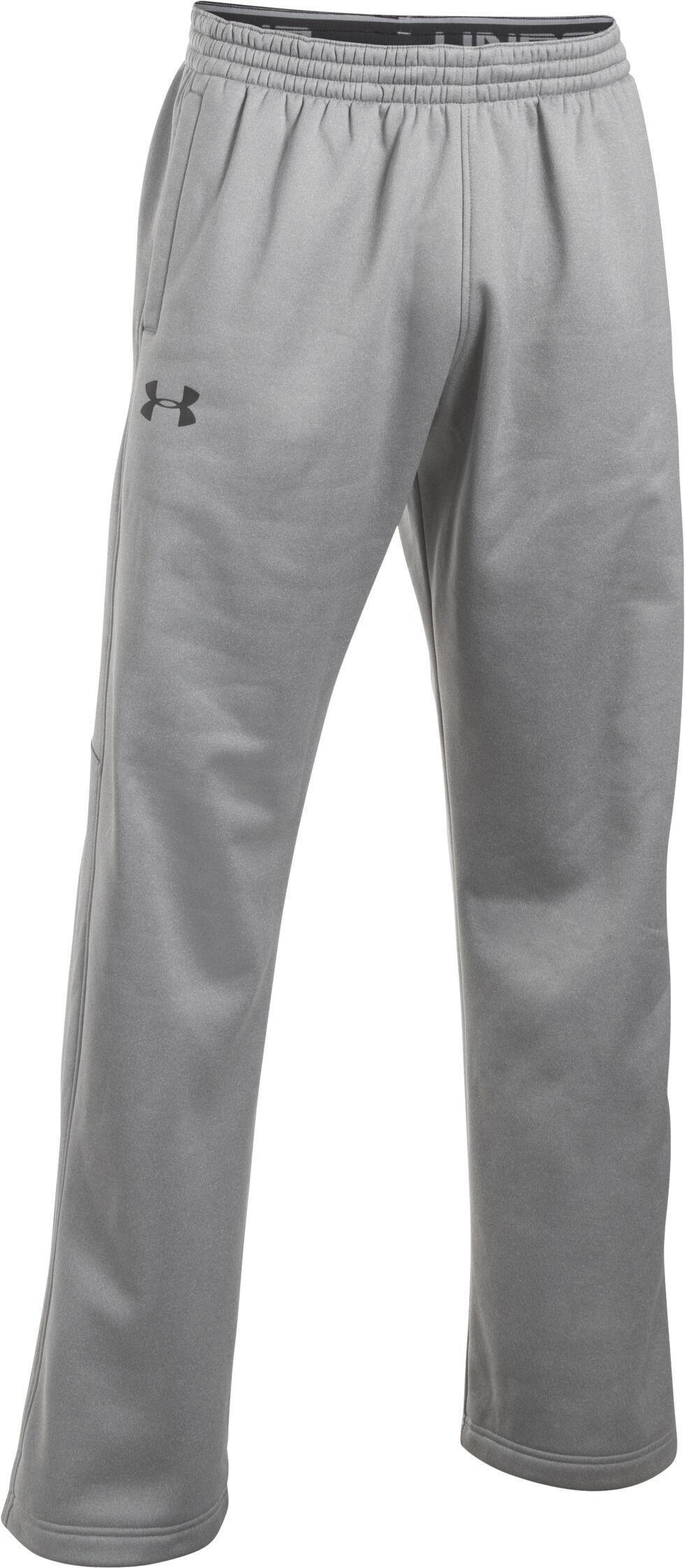 Under Armour Men's Grey Storm Armour® Fleece Pants, Grey, hi-res