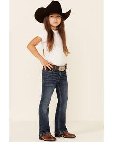 Wrangler Girls' Medium Wash Holly Stretch Bootcut Jeans , Blue, hi-res