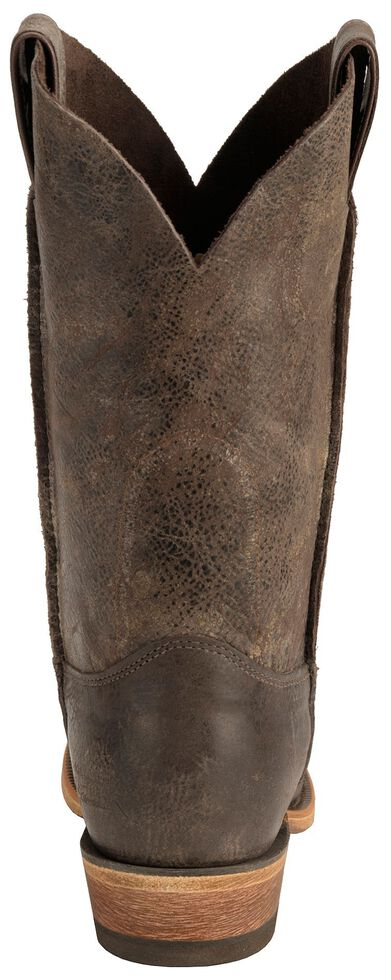 Justin Men's Distressed Cowboy Boots - Square Toe, Chocolate, hi-res
