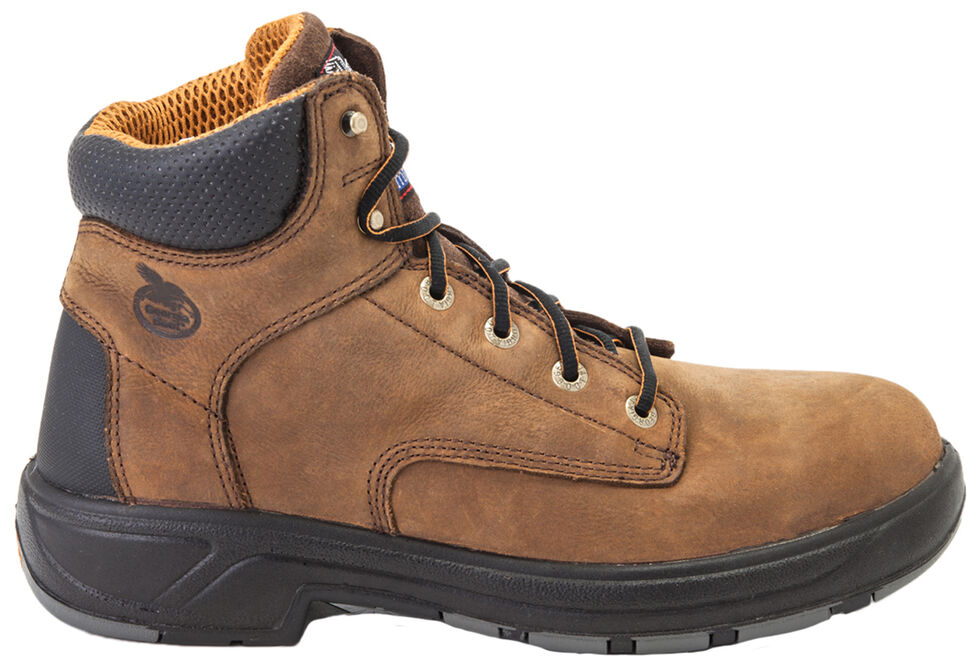 "Georgia Flxpoint Waterproof 6"" Work Boots - Safety Toe, Brown, hi-res"