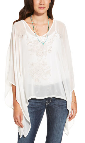 Ariat Women's White Taos Top, White, hi-res