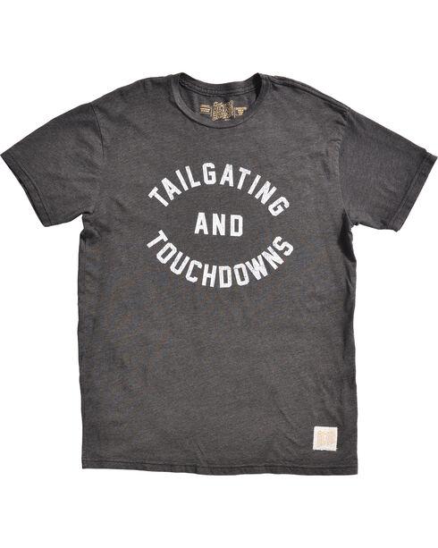 Original Retro Brand Men's Black Tailgating and Touchdowns Tee , Black, hi-res