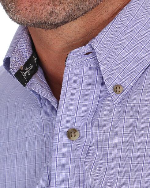 Wrangler Men's George Strait Purple Plaid Western Shirt , Purple, hi-res