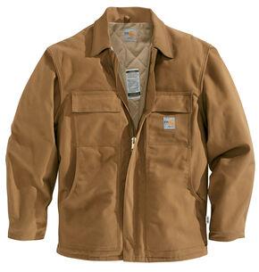 Carhartt Flame-Resistant Duck Traditional Coat - Big & Tall, Carhartt Brown, hi-res