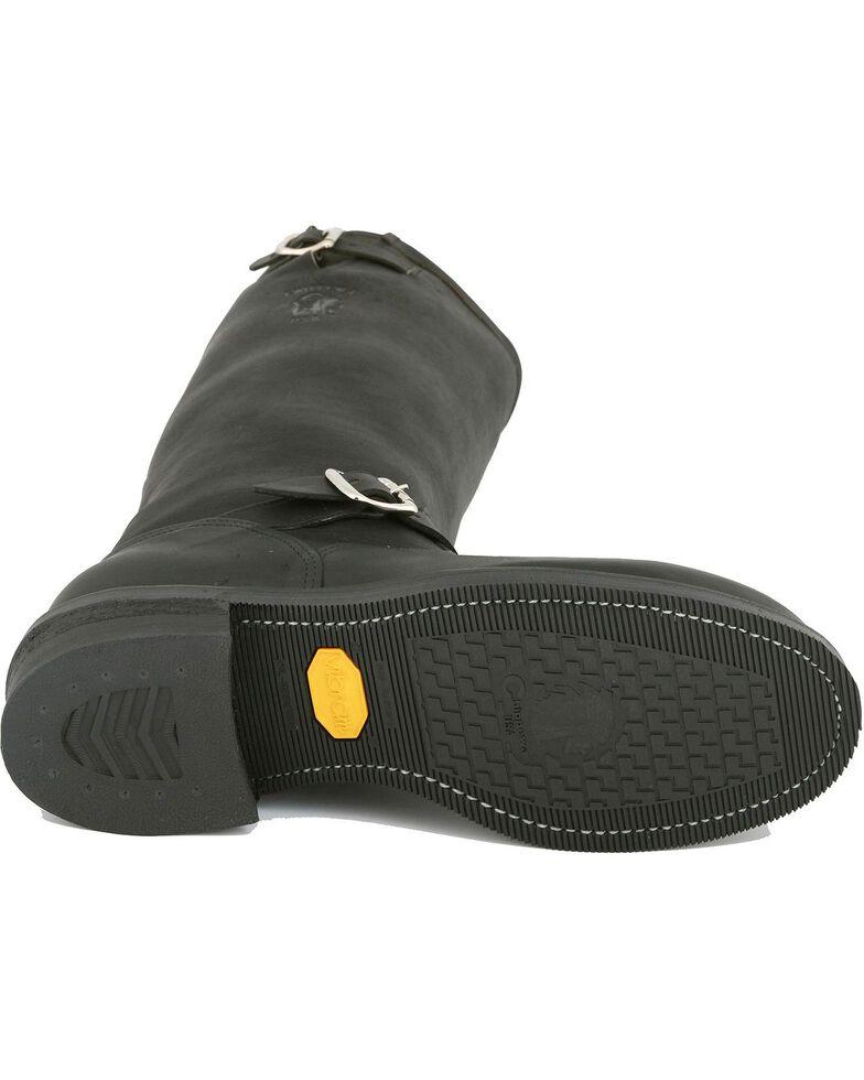 Chippewa Motorcycle Boots - Steel Toe, Black, hi-res