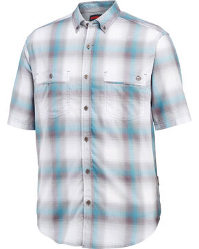 Wolverine Men's Springsport Short Sleeve Shirt, Blue, hi-res