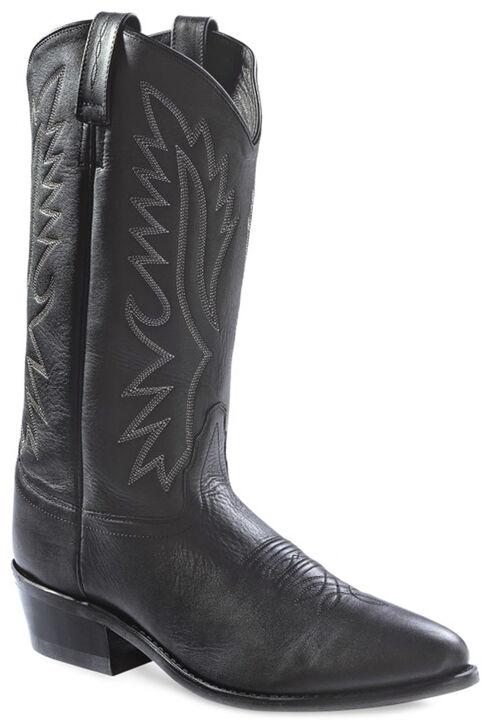 Old West Men's Black Polanil Western Cowboy Boots - Medium Toe, Black, hi-res