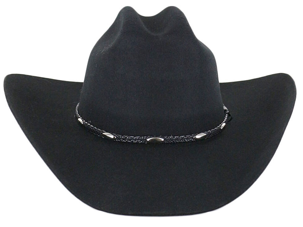 Cody James Casino Black 3X Wool Felt Cowboy Hat, Black, hi-res
