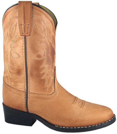 Smoky Mountain Boys' Bomber Western Boots - Round Toe, Tan, hi-res