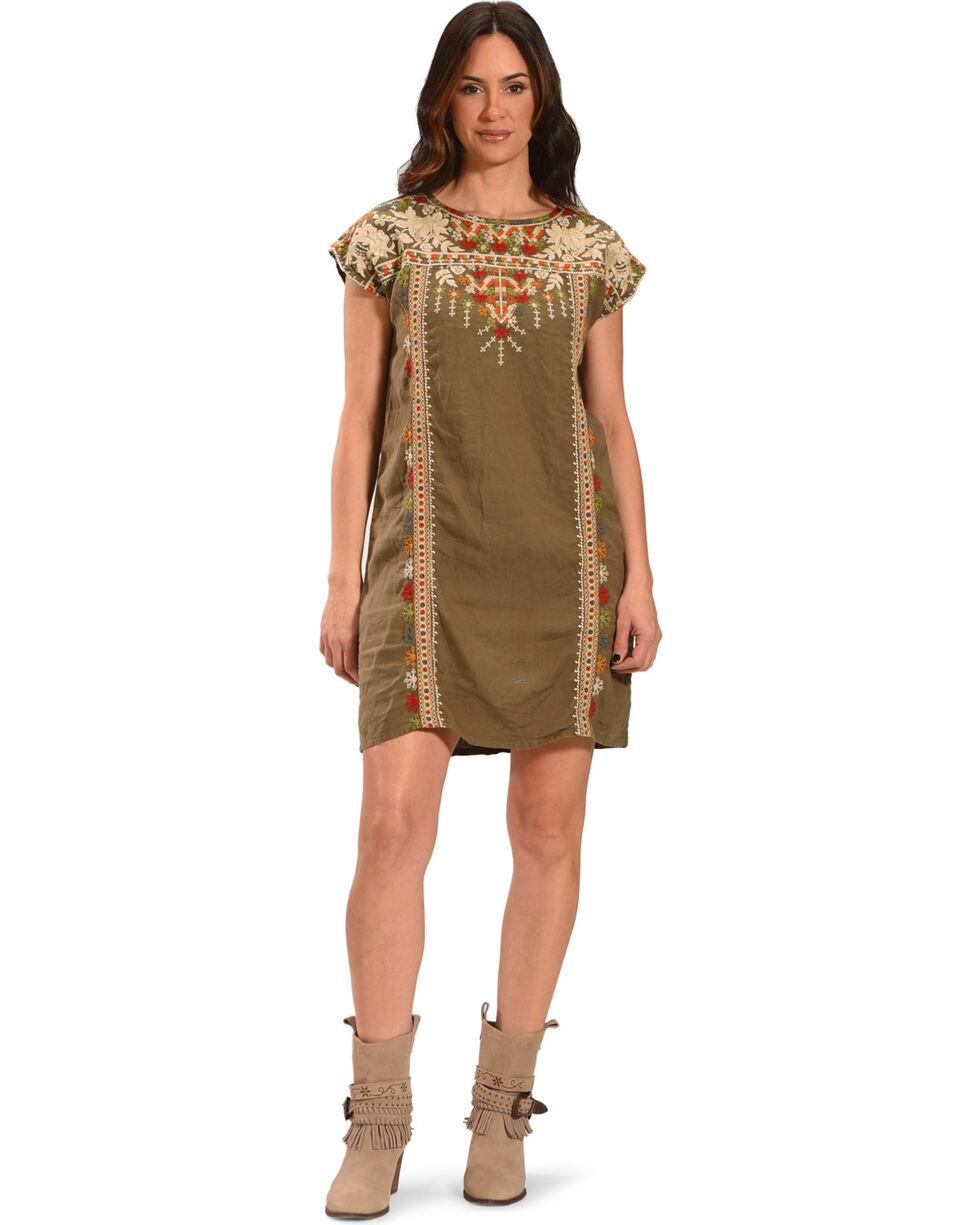 Johnny Was Women's Aliya Shift Tunic Dress, Green, hi-res