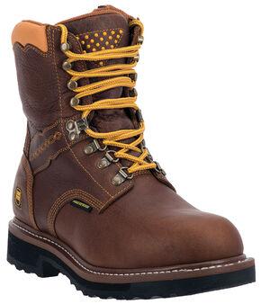 Dan Post Scorpion Waterproof Lacer Zippered Work Boots - Alloy Toe, Brown, hi-res