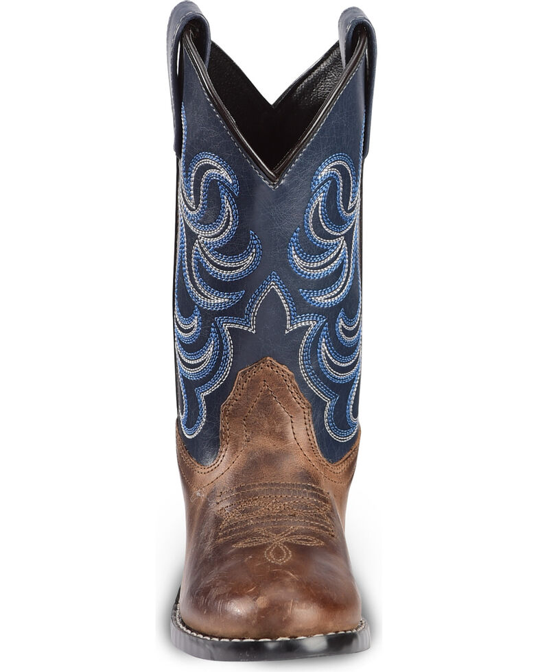 43b110f9878 Cody James Boys' Two-Tone Embroidered Western Boots - Round Toe